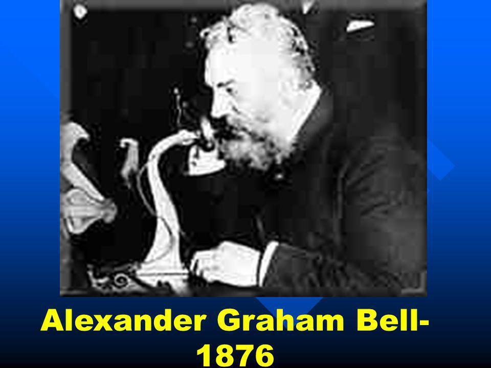 Alexander Graham Bell- 1876