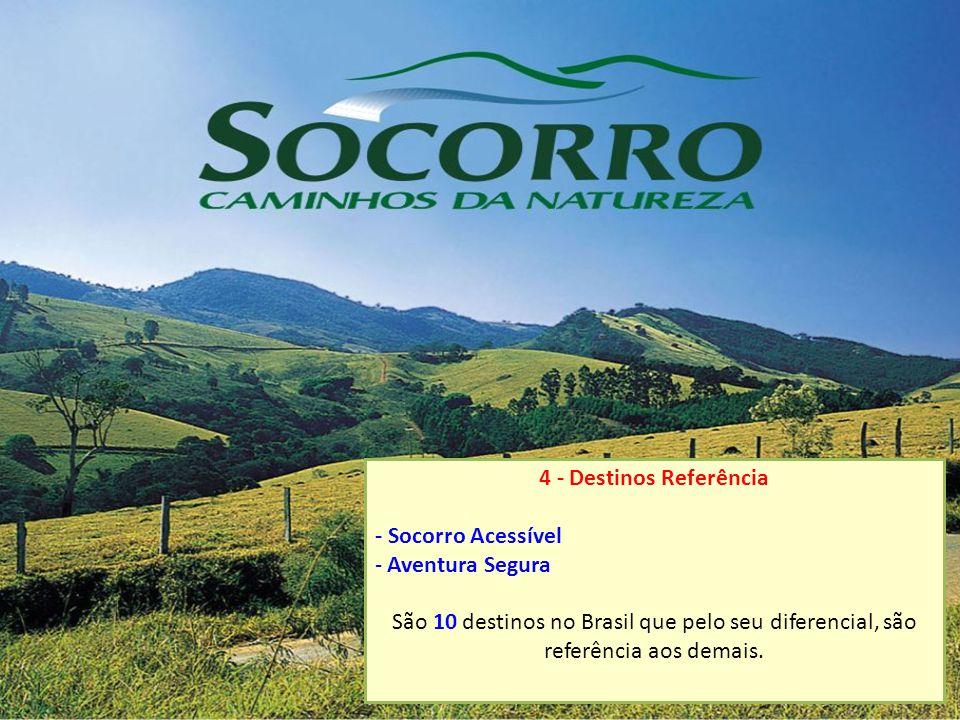 4 - Destinos Referência - Socorro Acessível - Aventura Segura São 10 destinos no Brasil que pelo seu diferencial, são referência aos demais.