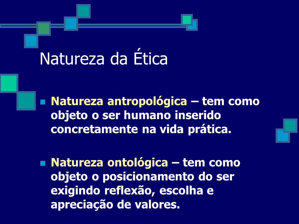 Ética x Moral Ética = ethosMoral = mos Princípios Universais (pressão interna) Regras p/ as ações coletivas (pressão externa) Reflexão e ValoresHábito
