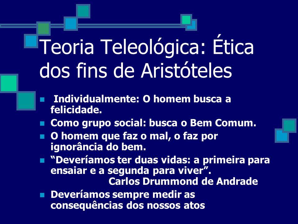 Teorias éticas ARISTÓTELES, KANT E J. BENTHAM