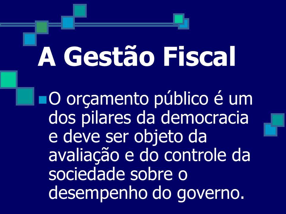A Gestão Fiscal  Creio que a responsabilidade com a gestão das contas públicas é um dever de todos os servidores públicos. Tanto do ponto de vista da