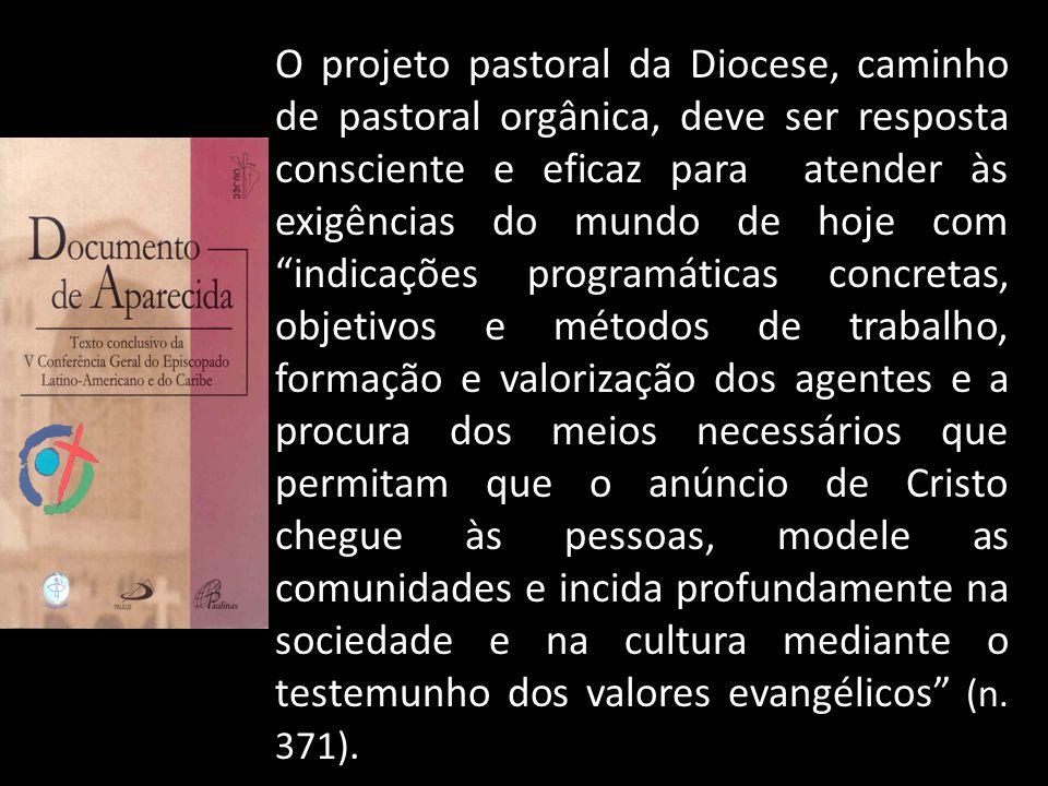 """O projeto pastoral da Diocese, caminho de pastoral orgânica, deve ser resposta consciente e eficaz para atender às exigências do mundo de hoje com """"in"""