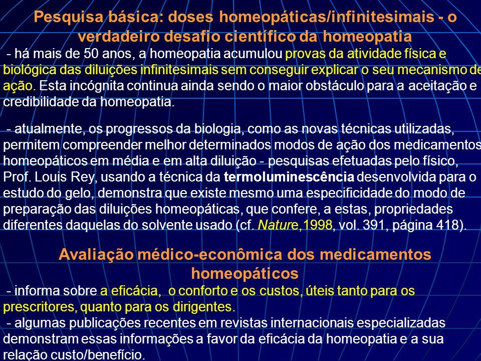 Pesquisa básica: doses homeopáticas/infinitesimais - o verdadeiro desafio científico da homeopatia - há mais de 50 anos, a homeopatia acumulou provas