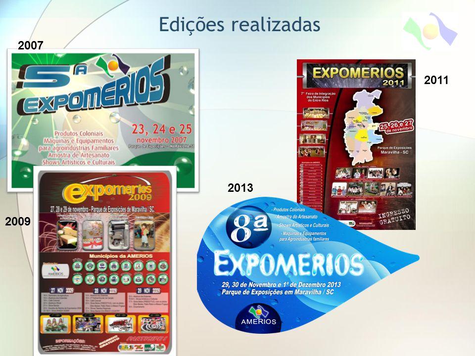 Edições realizadas 2007 2009 2011 2013