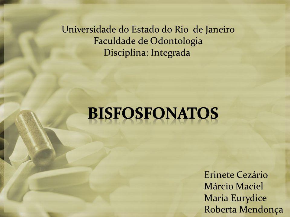 Universidade do Estado do Rio de Janeiro Faculdade de Odontologia Disciplina: Integrada Erinete Cezário Márcio Maciel Maria Eurydice Roberta Mendonça