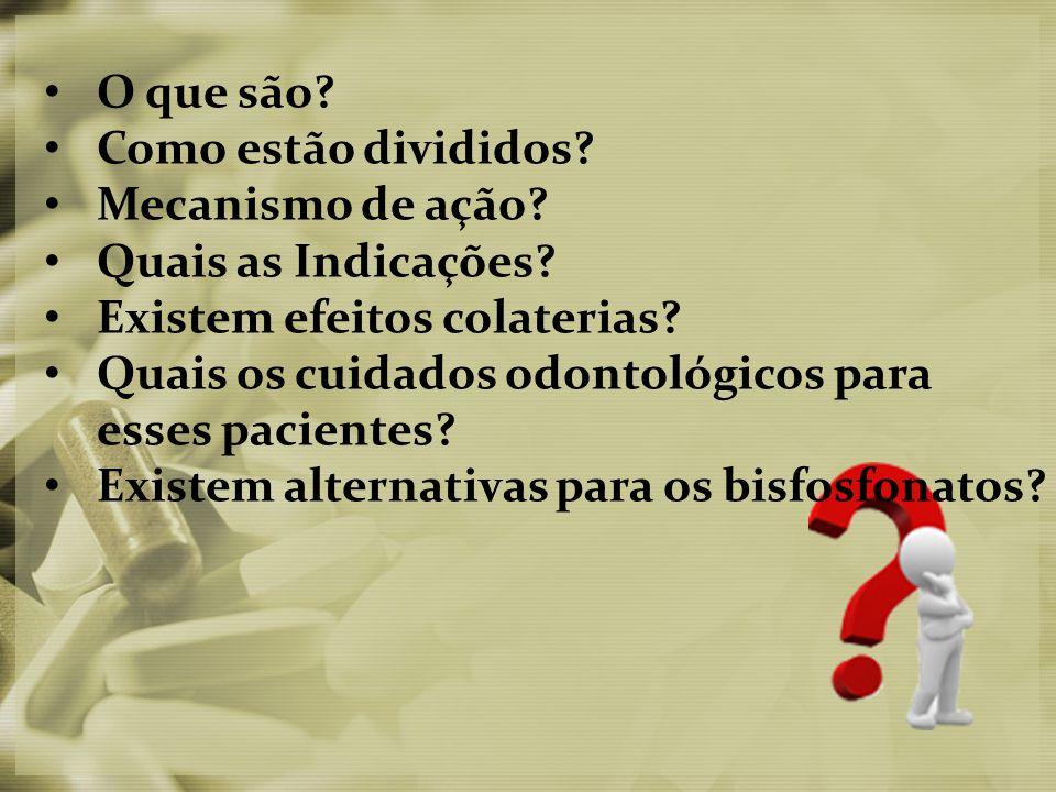 Referências: Clébio Derocy Ferreira Junior1, Priscila Ladeira Casado2, Eliane dos Santos Porto Barboza3OSTEONECROSE ASSOCIADA AOS BIFOSFONATOS NA ODONTOLOGIA, R.