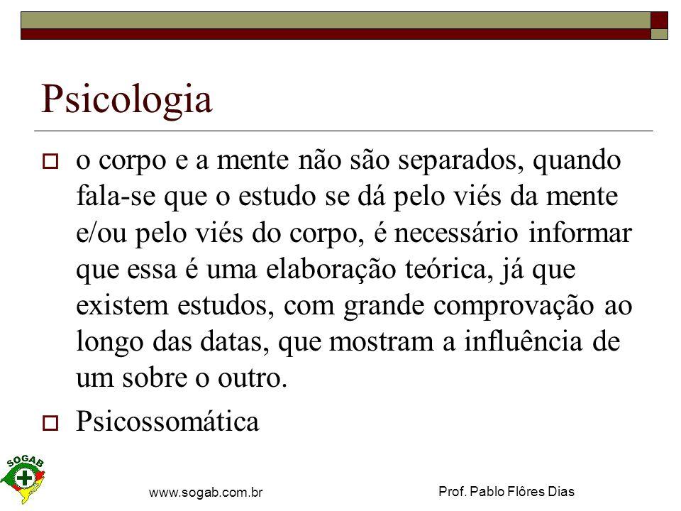 Prof. Pablo Flôres Dias www.sogab.com.br Maslow