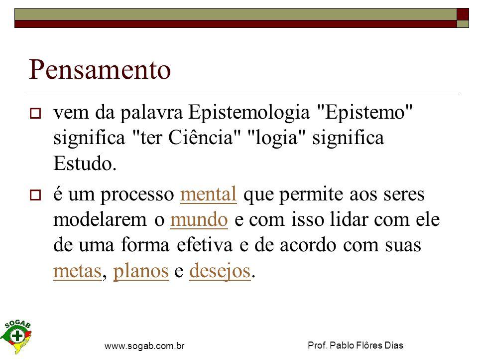 Prof.Pablo Flôres Dias www.sogab.com.br Pensamento .