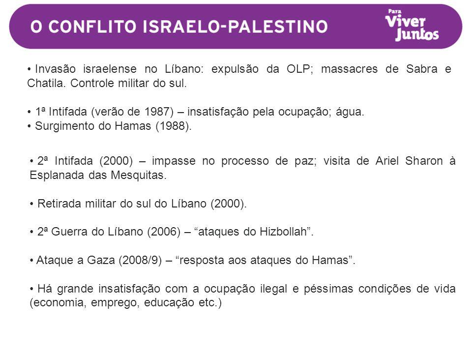 • Invasão israelense no Líbano: expulsão da OLP; massacres de Sabra e Chatila.