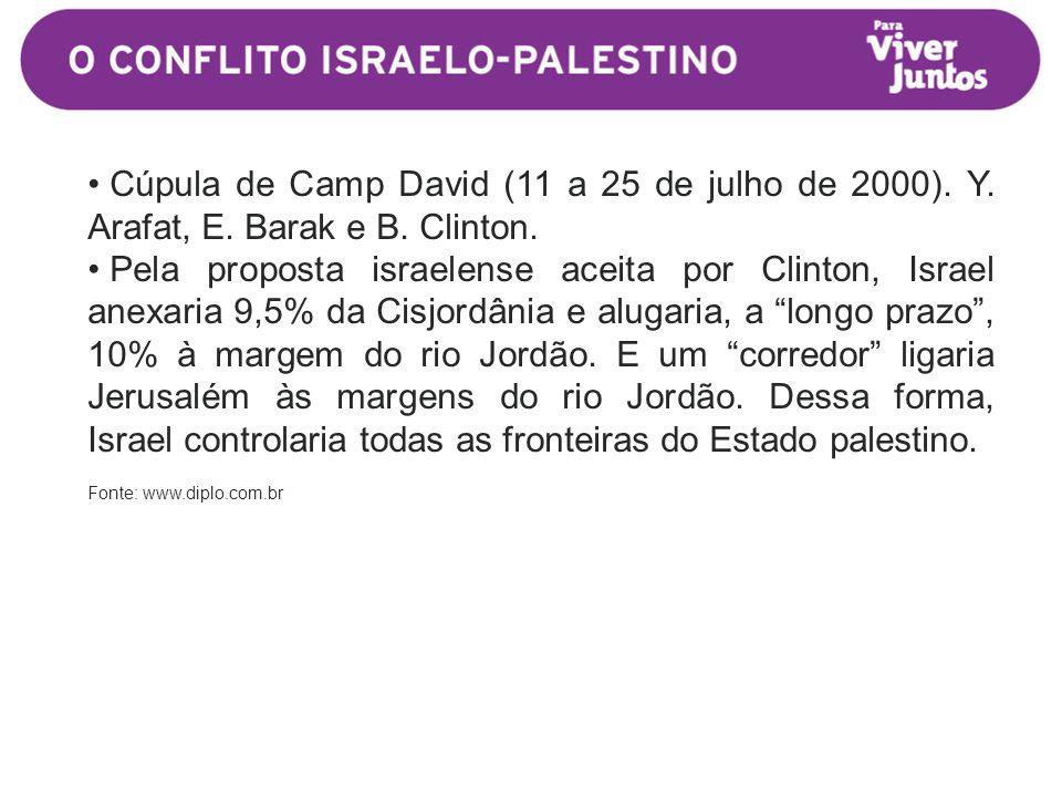 • Cúpula de Camp David (11 a 25 de julho de 2000).