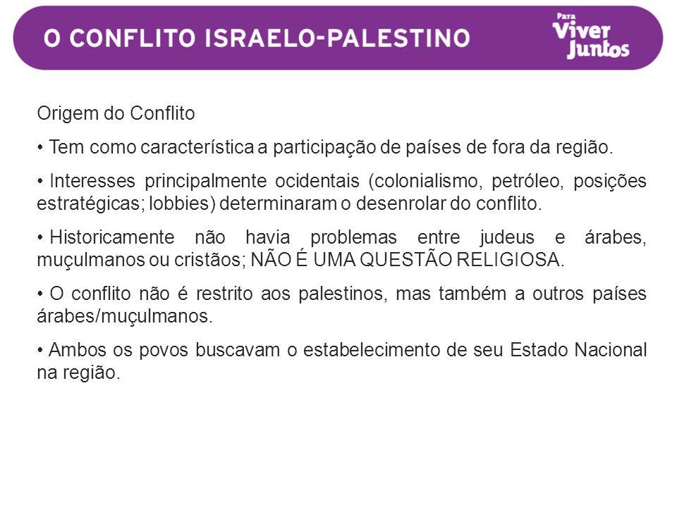 Origem do Conflito • Tem como característica a participação de países de fora da região.