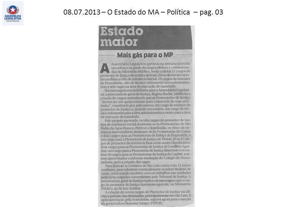 13.07.2013 – O Imparcial – Política – pag. 02