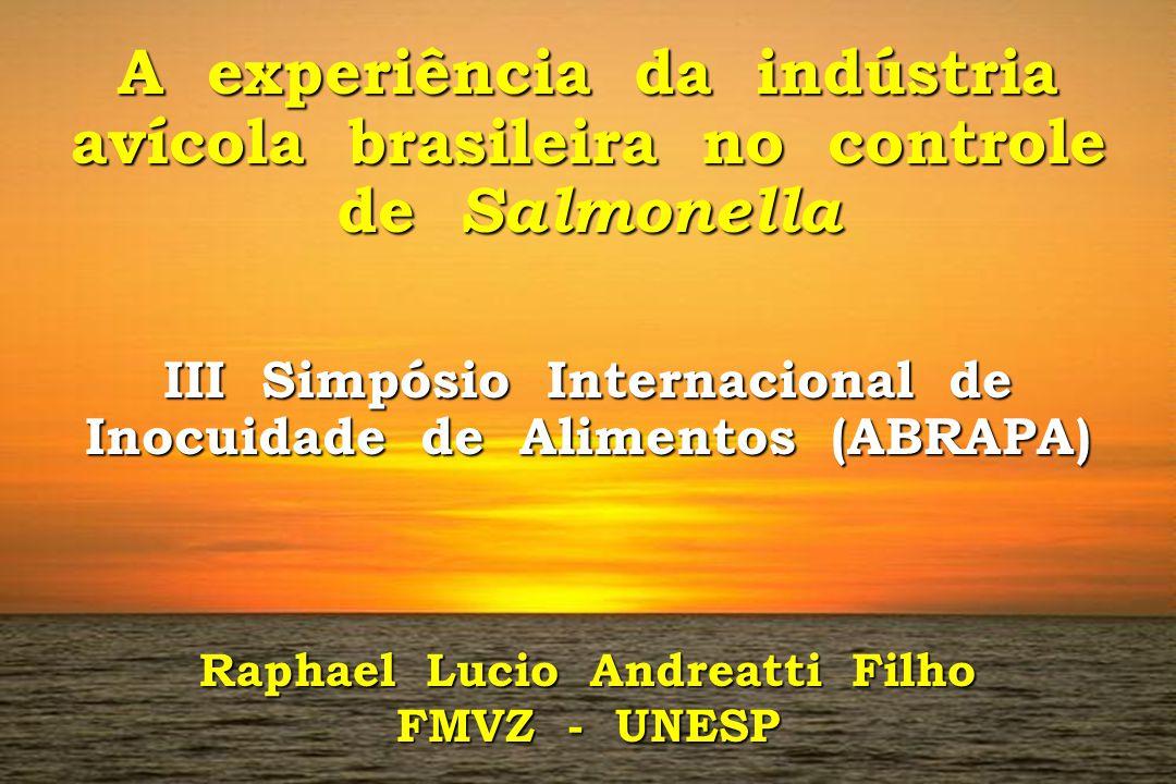 A experiência da indústria avícola brasileira no controle de Salmonella III Simpósio Internacional de Inocuidade de Alimentos (ABRAPA) Raphael Lucio A