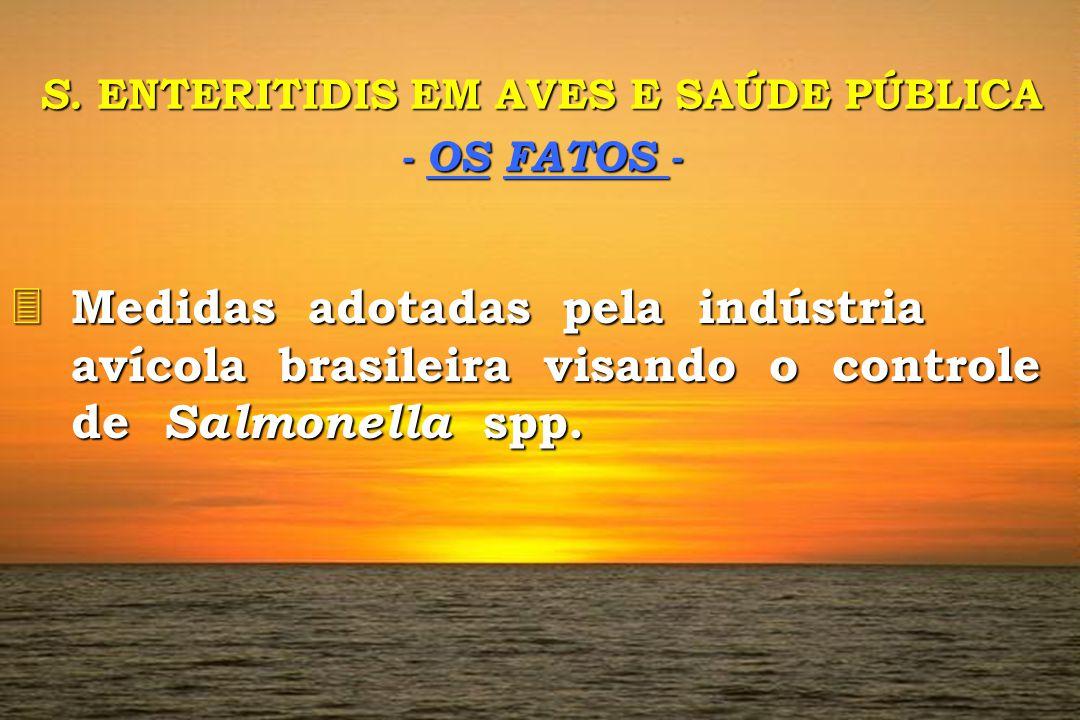 S. ENTERITIDIS EM AVES E SAÚDE PÚBLICA - OS FATOS - 3 Medidas adotadas pela indústria avícola brasileira visando o controle de Salmonella spp.