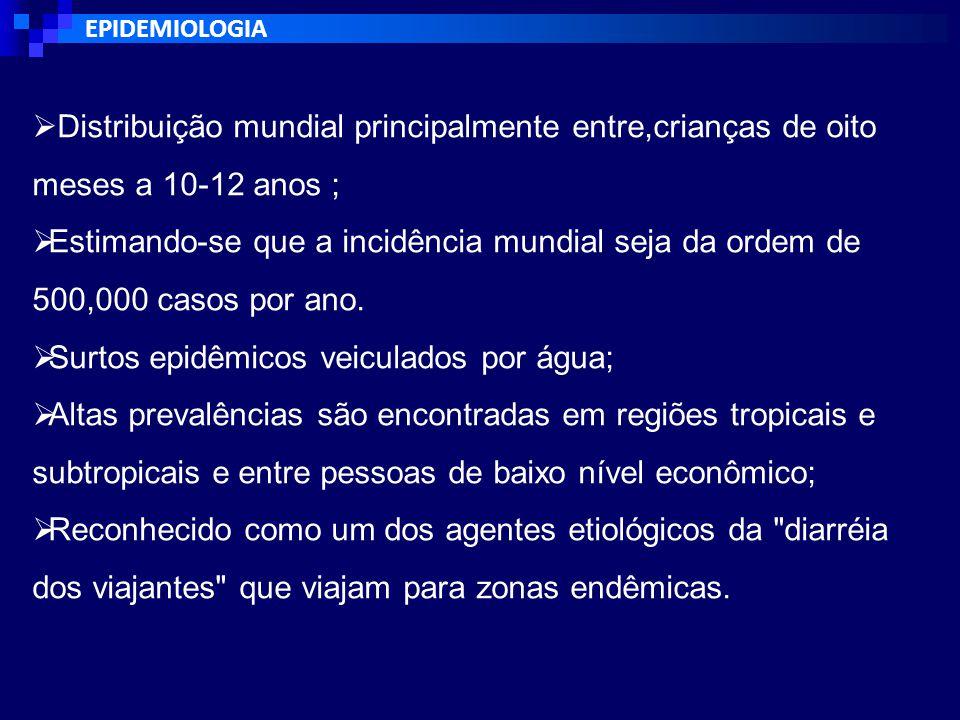 TRANSMISSÃO Modo de transmissão - Fecal-oral.