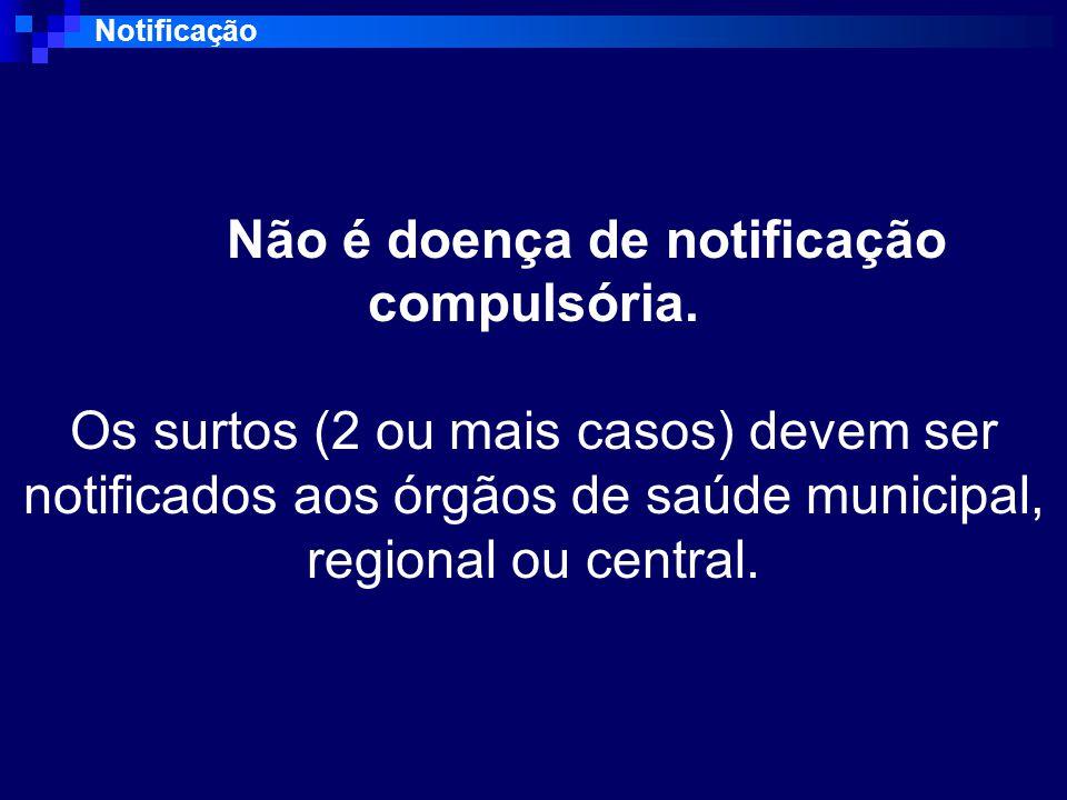 Notificação Não é doença de notificação compulsória.