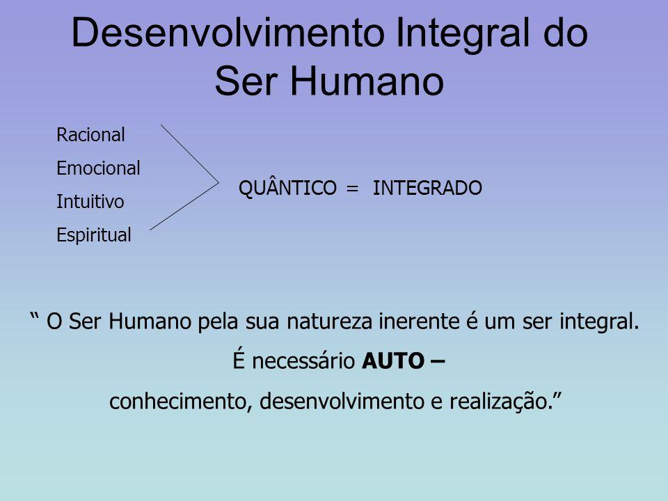 """Desenvolvimento Integral do Ser Humano Racional Emocional Intuitivo Espiritual QUÂNTICO = INTEGRADO """" O Ser Humano pela sua natureza inerente é um ser"""