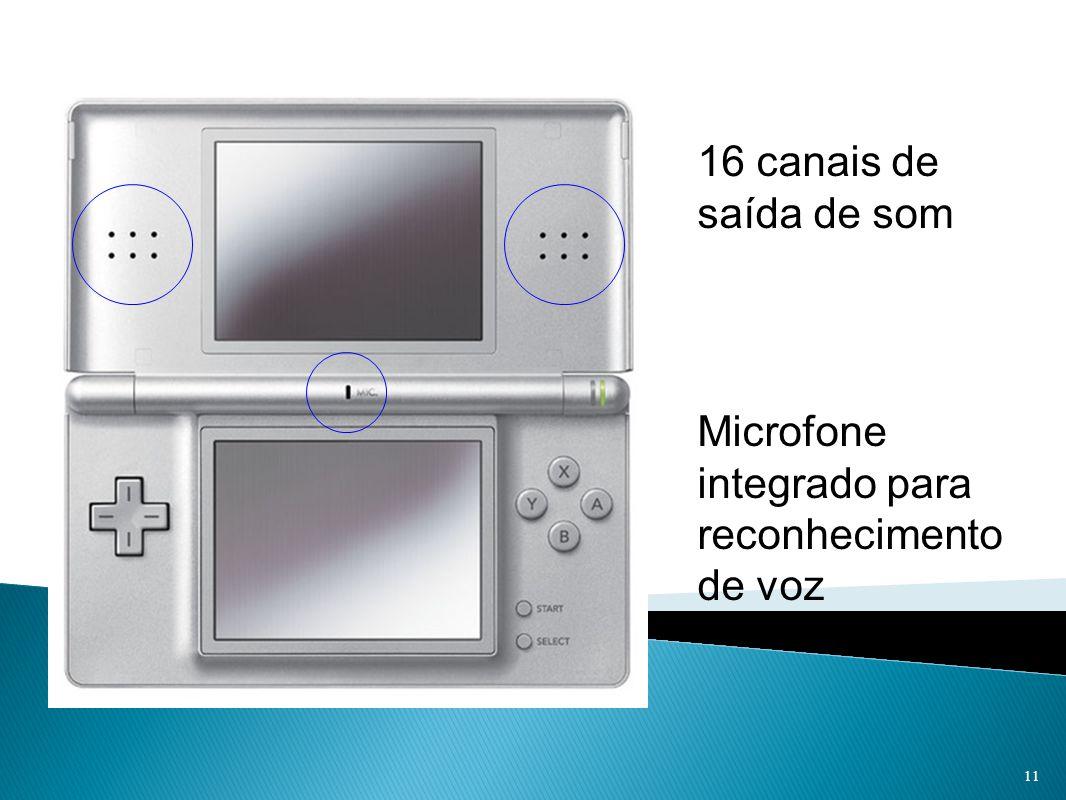 16 canais de saída de som Microfone integrado para reconhecimento de voz 11