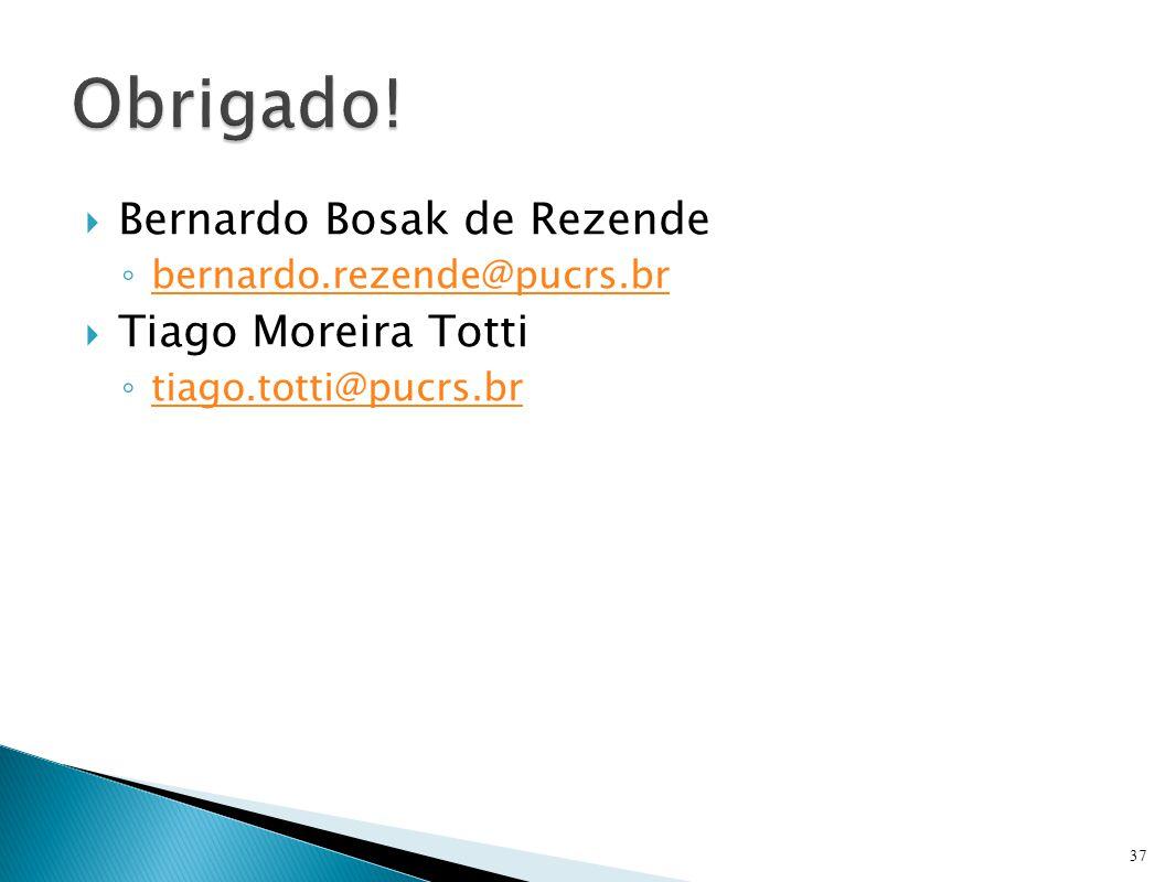  Bernardo Bosak de Rezende ◦ bernardo.rezende@pucrs.br bernardo.rezende@pucrs.br  Tiago Moreira Totti ◦ tiago.totti@pucrs.br tiago.totti@pucrs.br 37