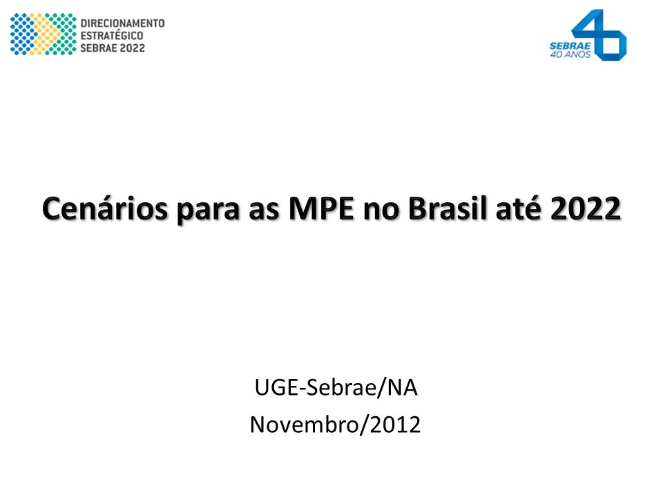 UGE-Sebrae/NA Novembro/2012