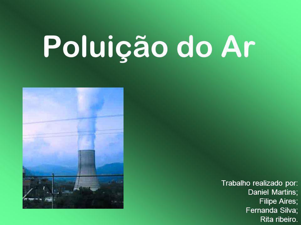 Poluição do Ar Trabalho realizado por: Daniel Martins; Filipe Aires; Fernanda Silva; Rita ribeiro.