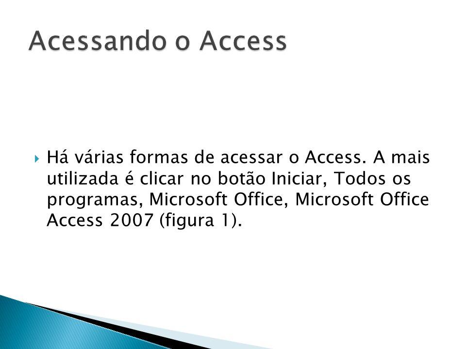  Há várias formas de acessar o Access.