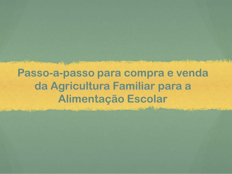 Passo-a-passo para compra e venda da Agricultura Familiar para a Alimentação Escolar