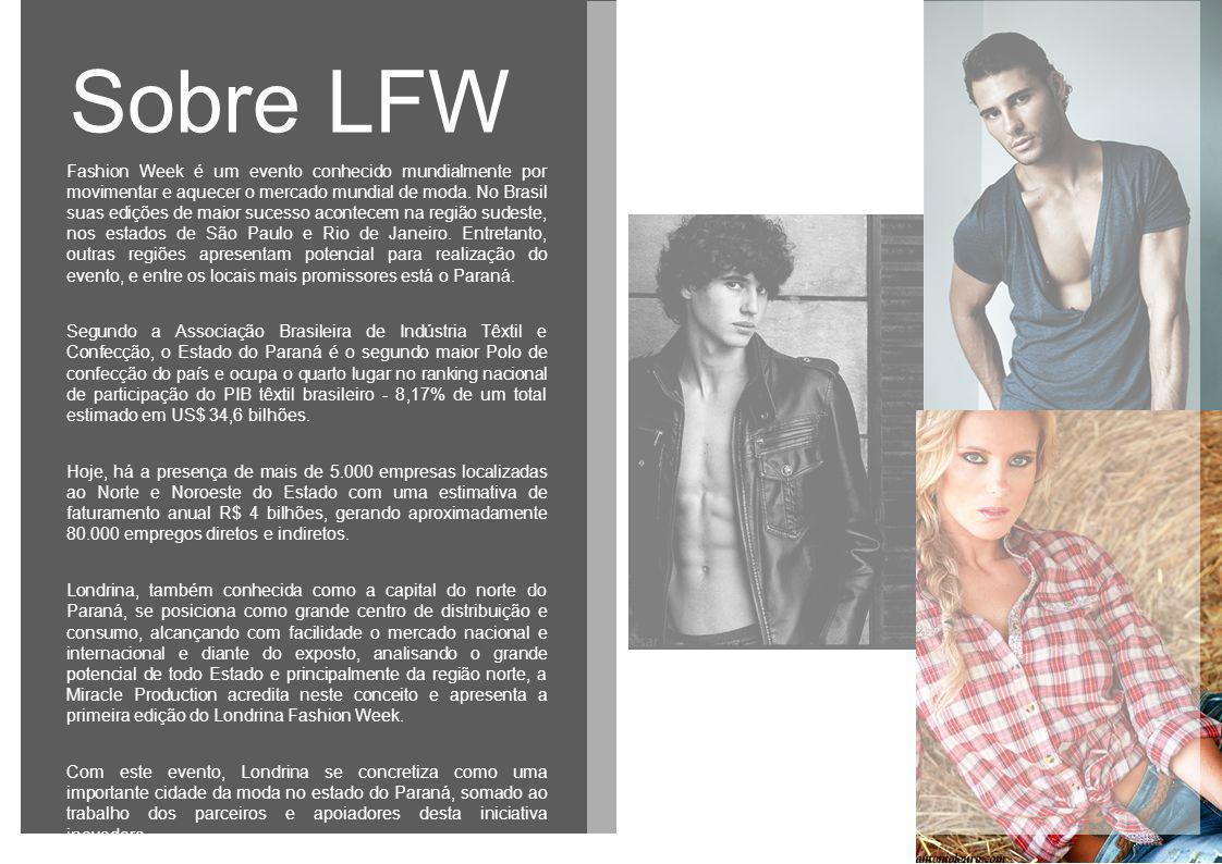 Fashion Week é um evento conhecido mundialmente por movimentar e aquecer o mercado mundial de moda. No Brasil suas edições de maior sucesso acontecem