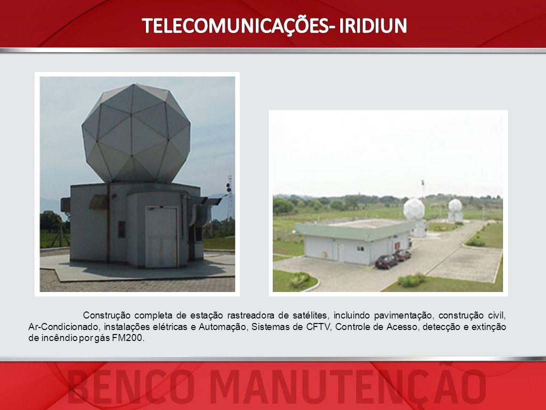 Construção completa de estação rastreadora de satélites, incluindo pavimentação, construção civil, Ar-Condicionado, instalações elétricas e Automação,