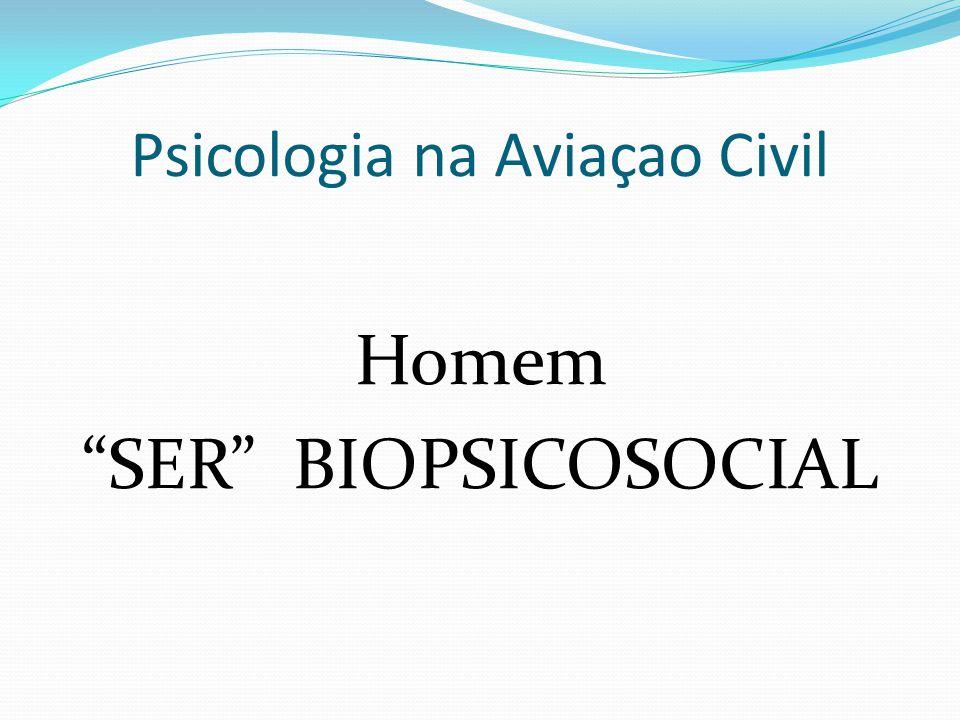 Psicologia na Aviaçao Civil  BIO = humano condição diferenciada dos outros animais, racionalidade, inteligência.