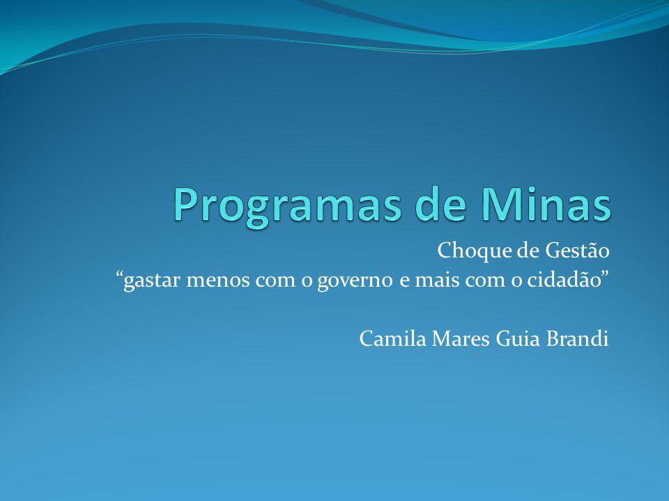 """Choque de Gestão """"gastar menos com o governo e mais com o cidadão"""" Camila Mares Guia Brandi"""