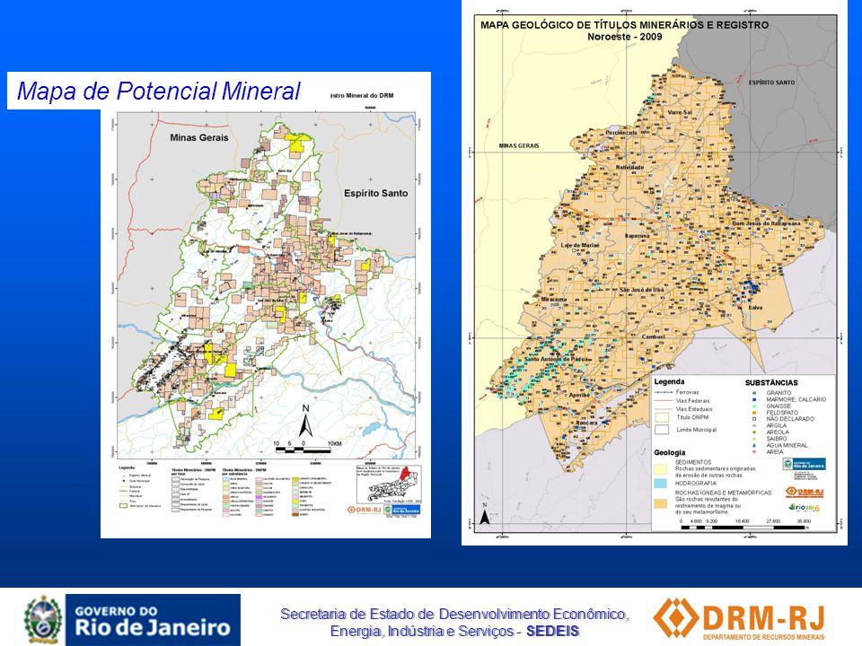 Secretaria de Estado de Desenvolvimento Econômico, Energia, Indústria e Serviços - SEDEIS Mapa de Potencial Mineral