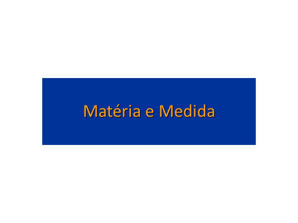 Matéria e Medida