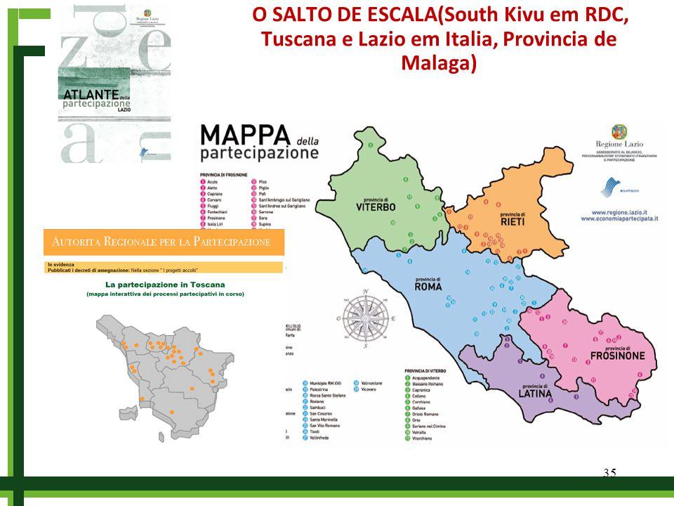 O SALTO DE ESCALA(South Kivu em RDC, Tuscana e Lazio em Italia, Provincia de Malaga) 35