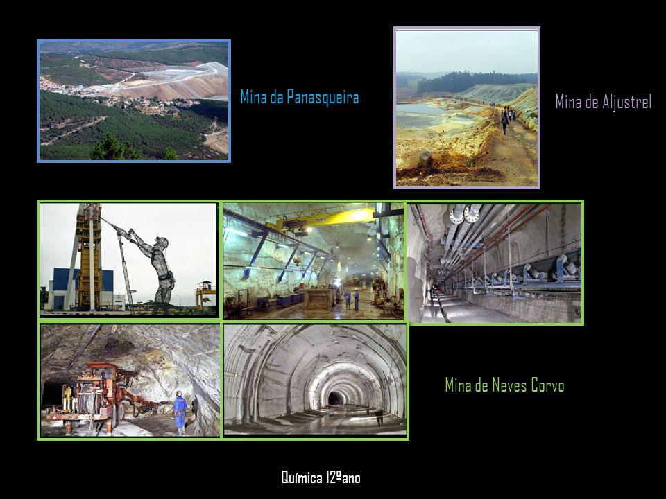 Mina da Panasqueira Mina de Neves Corvo Química 12ºano Mina de Aljustrel