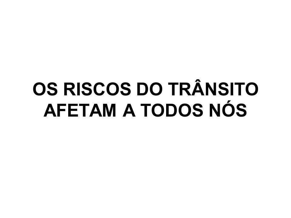 OS RISCOS DO TRÂNSITO AFETAM A TODOS NÓS