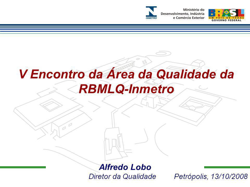 Alfredo Lobo Diretor da Qualidade Petrópolis, 13/10/2008 V Encontro da Área da Qualidade da RBMLQ-Inmetro