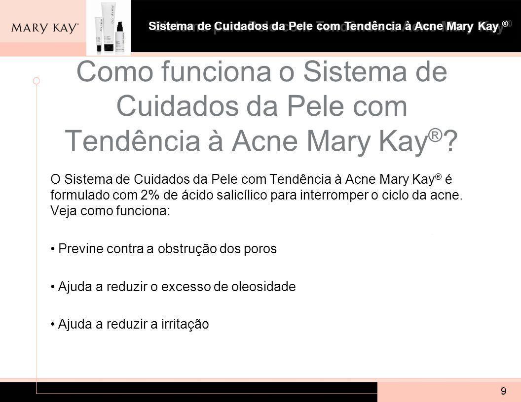 Sistema para Pele com Tendência à Acne Mary Kay ® 9 Como funciona o Sistema de Cuidados da Pele com Tendência à Acne Mary Kay ® .