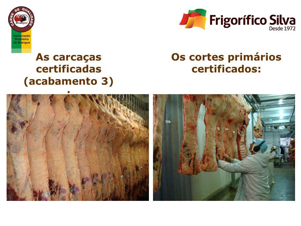 As carcaças certificadas (acabamento 3) : Os cortes primários certificados: