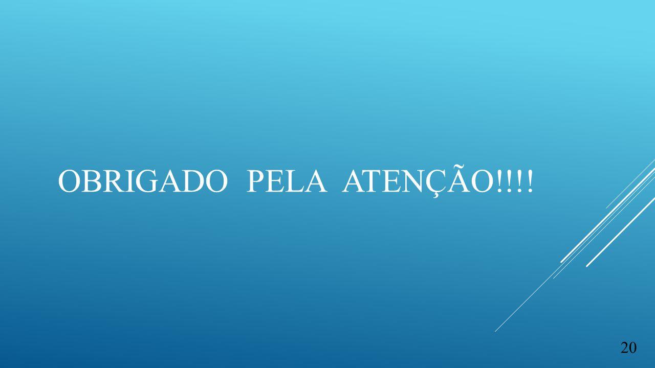 OBRIGADO PELA ATENÇÃO!!!! 20