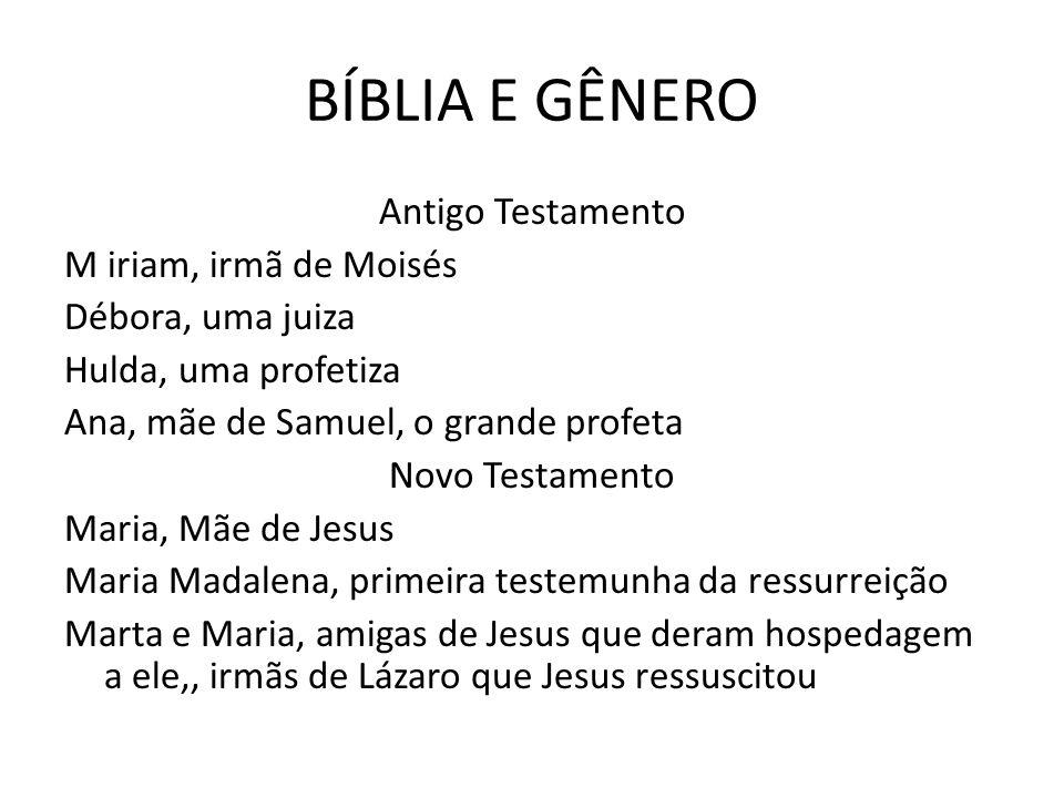 BÍBLIA E GÊNERO Maria nossa Mãe