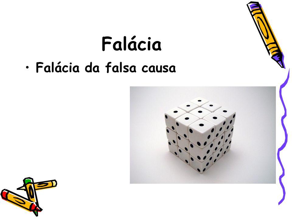 Falácia •Falácia da falsa causa