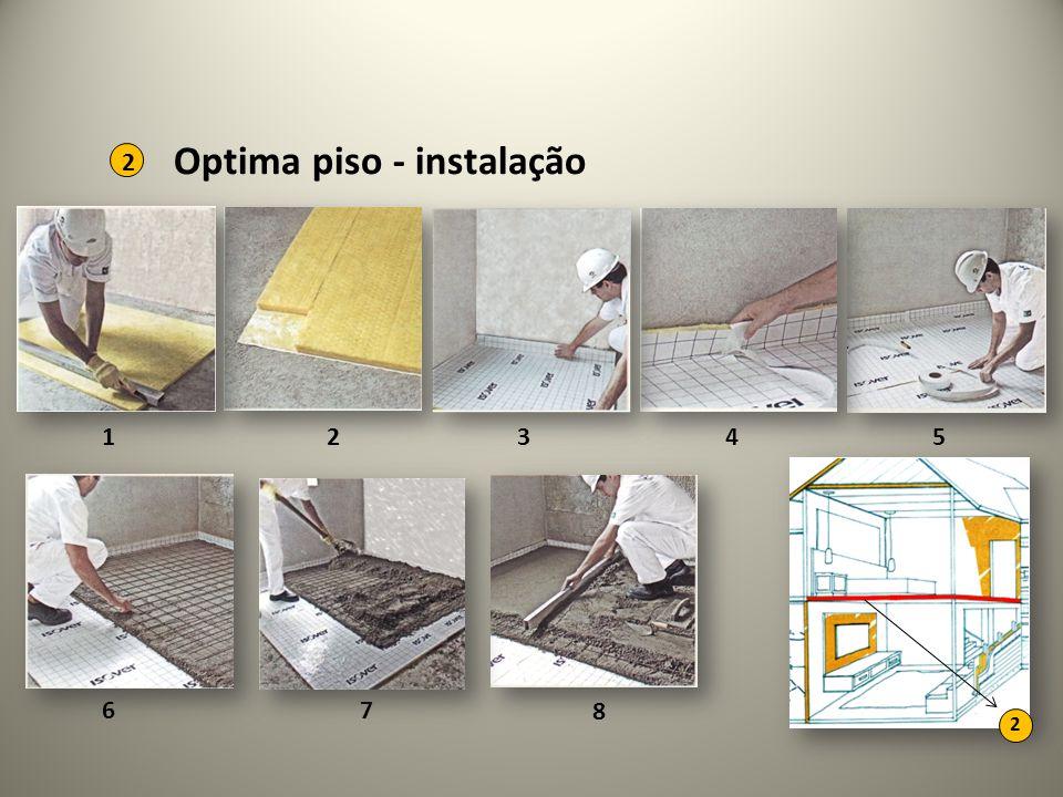 2 1 Optima piso - instalação 2 2345 67 8