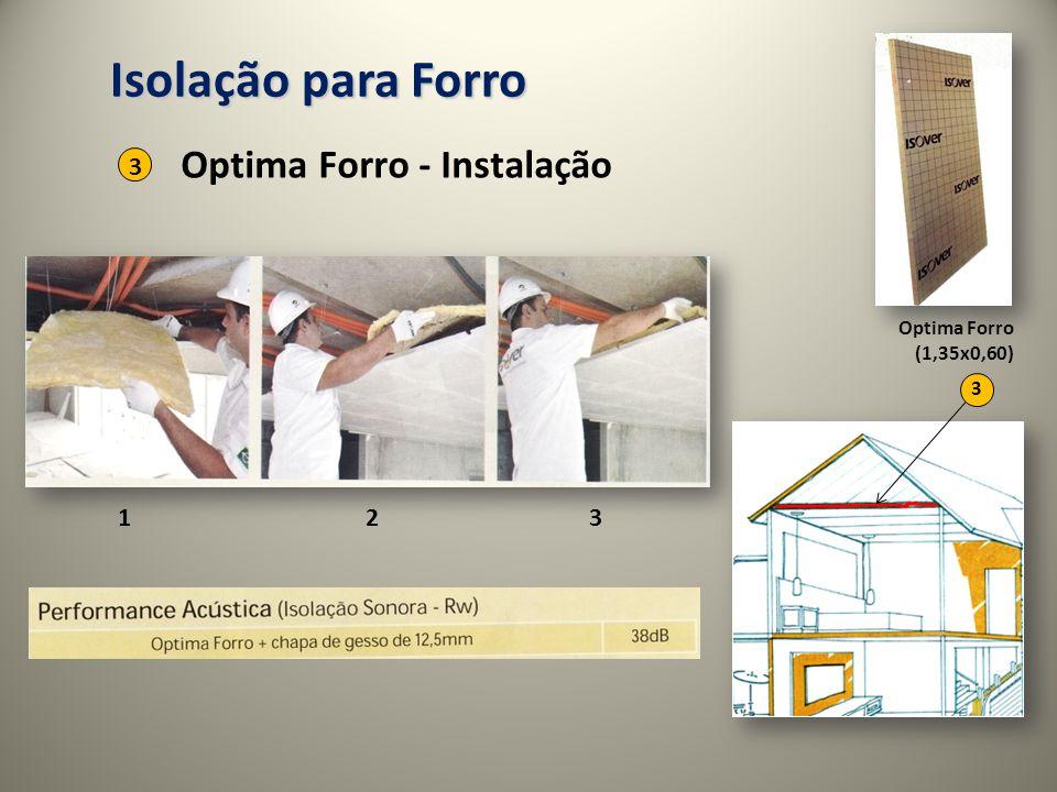 123 Isolação para Forro Optima Forro - Instalação 3 3 Optima Forro (1,35x0,60)