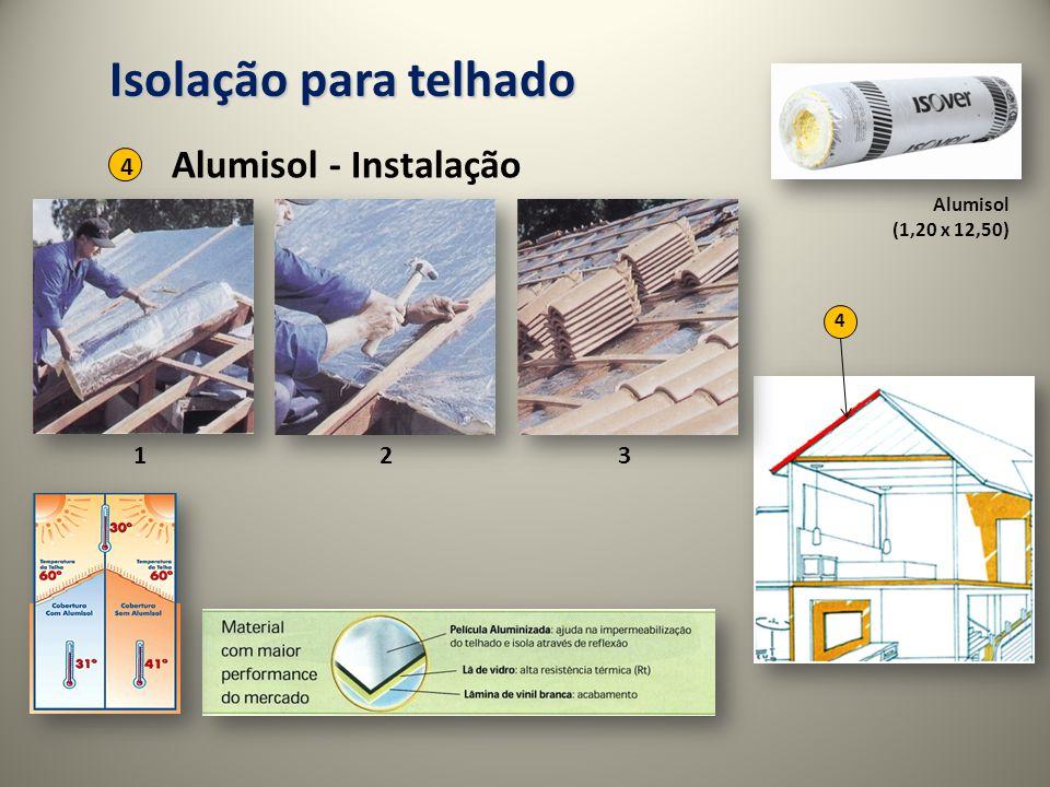 Alumisol (1,20 x 12,50) 4 Isolação para telhado Alumisol - Instalação 4 123