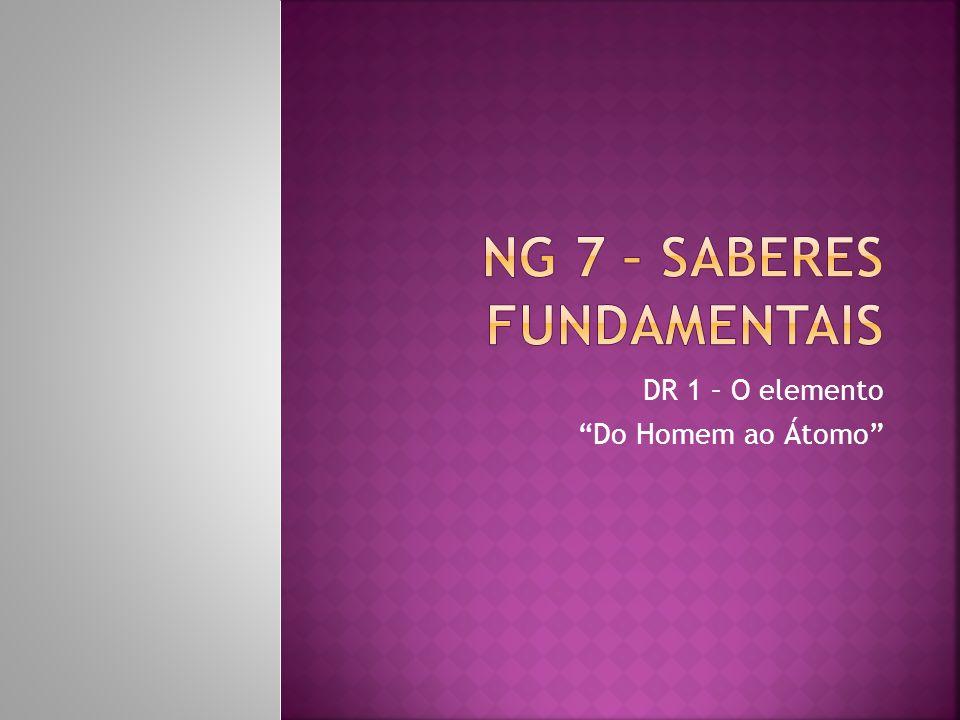 DR 1 – O elemento Do Homem ao Átomo