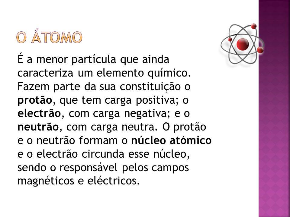 É a menor partícula que ainda caracteriza um elemento químico.