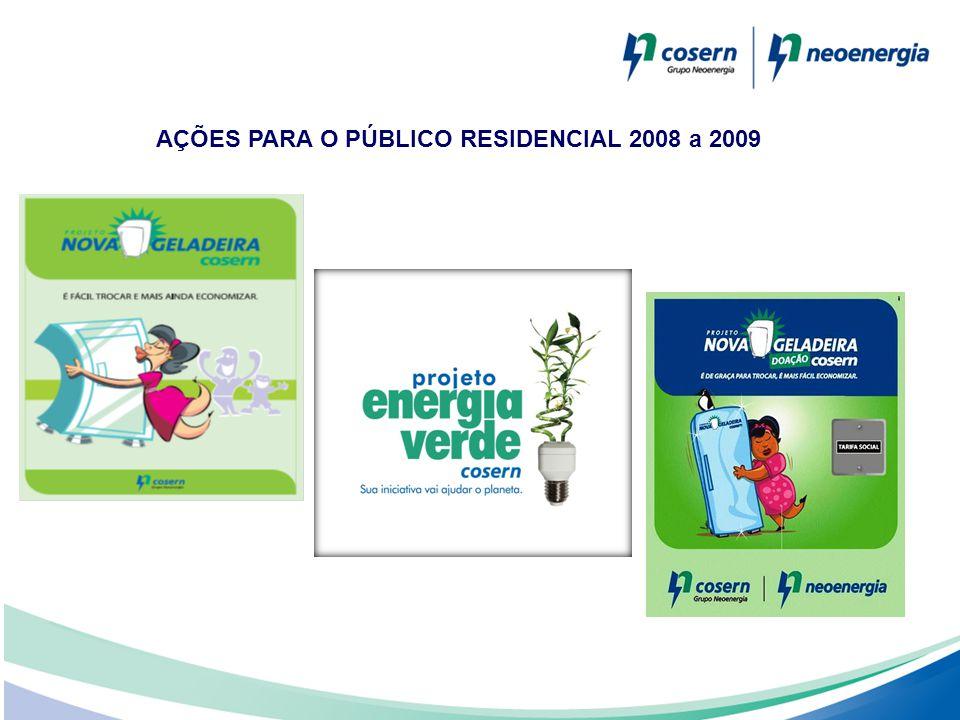 AÇÕES PARA O PÚBLICO RESIDENCIAL 2008 a 2009