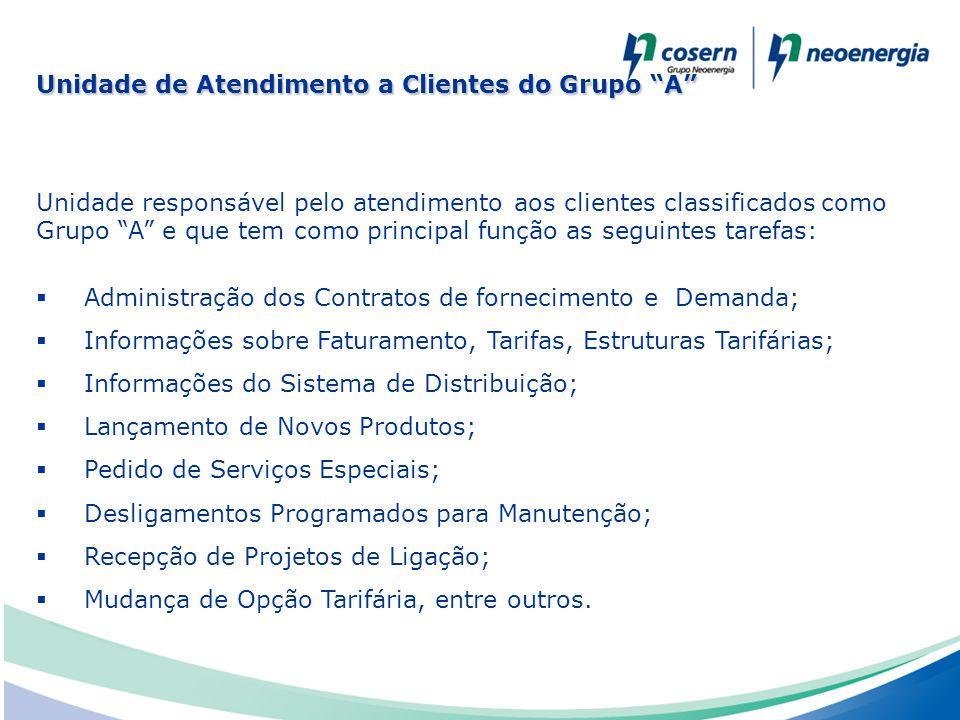 """Unidade responsável pelo atendimento aos clientes classificados como Grupo """"A"""" e que tem como principal função as seguintes tarefas:  Administração d"""