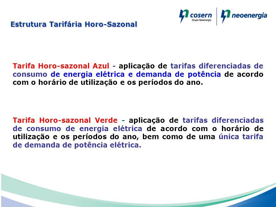 Tarifa Horo-sazonal Azul - aplicação de tarifas diferenciadas de consumo de energia elétrica e demanda de potência de acordo com o horário de utilizaç